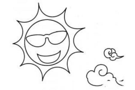 太阳简笔画图片