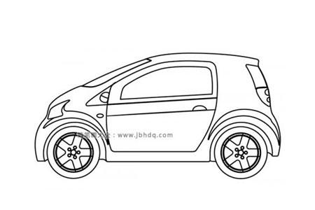 小型汽车简笔画图片