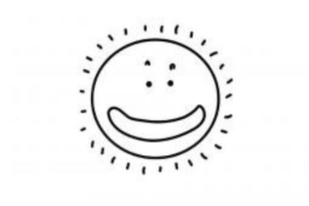可爱的太阳简笔画图片