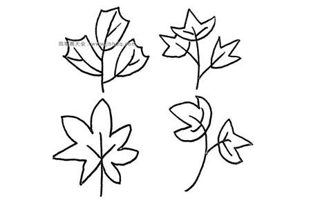 36种画树叶的简笔画图片