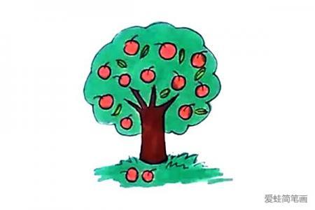 苹果树怎么画