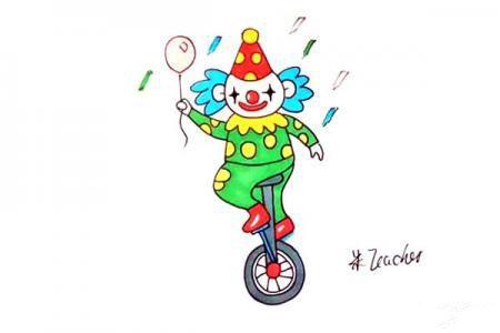 怎么画小丑