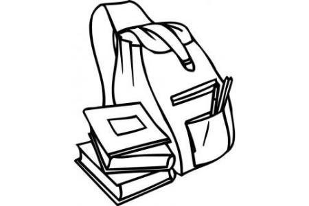 书包和书简笔画图片