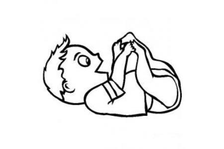 小男孩简笔画图片 可爱的婴儿简笔画