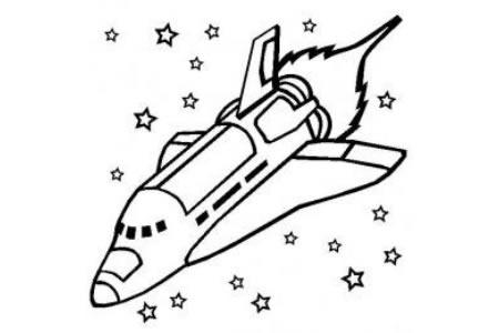 宇宙飞船简笔画 航天飞机简笔画图片