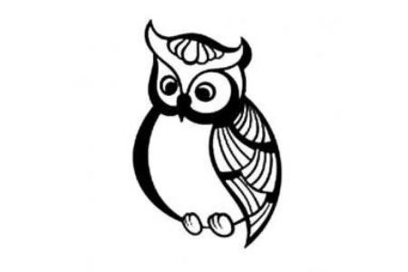 如何画猫头鹰