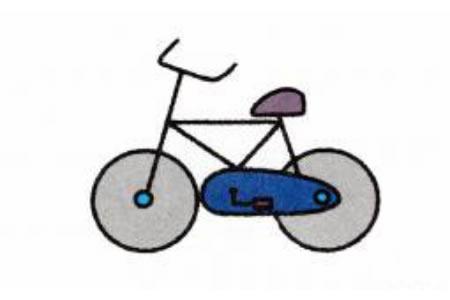自行车简笔画画法