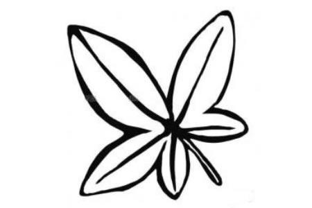 幼儿树叶简笔画图片