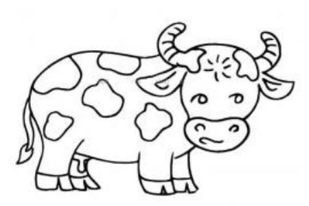 可爱的奶牛简笔画图片