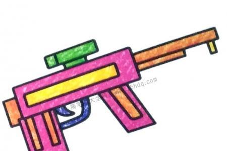 玩具冲锋枪简笔画图片