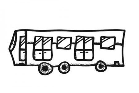 幼儿公共汽车简笔画