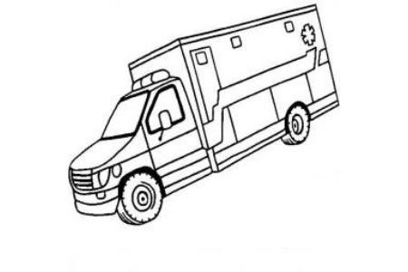 救护车图片 简单的救护车简笔画图片