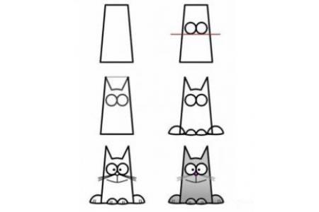 画小猫的步骤教程