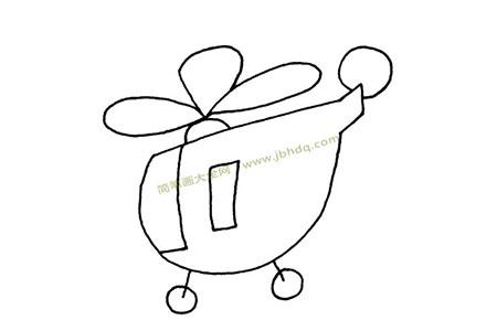 Q版直升机简笔画图片