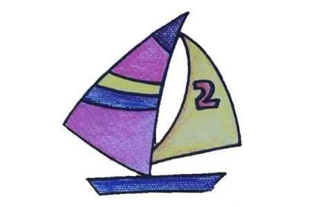 初级简笔画 帆船