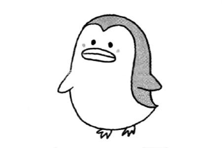 可爱的企鹅简笔画教程