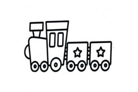 简单易画的小火车简笔画
