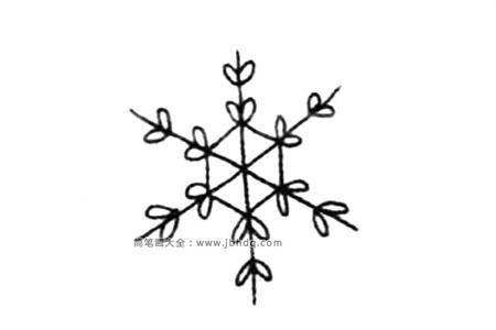 冬天元素简笔画 雪花