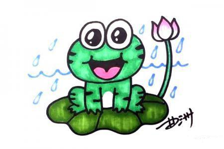 荷叶上的青蛙怎么画