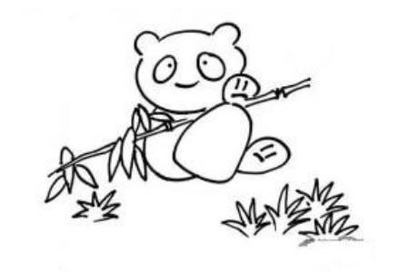 可爱呆萌大熊猫简笔画图片