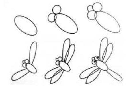 画蜻蜓简笔画的步骤