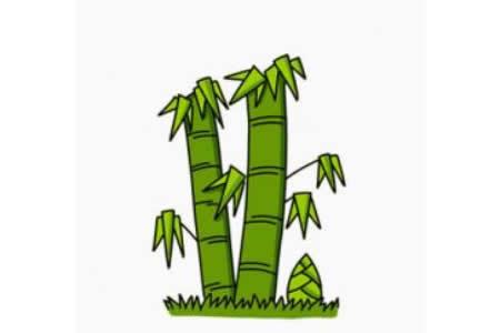 简笔画竹子的画法