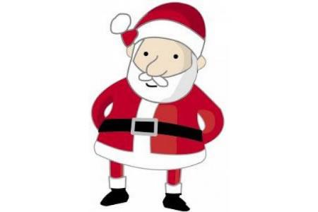 彩色简笔画调皮的圣诞老人