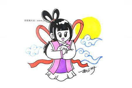 中秋节嫦娥简笔画