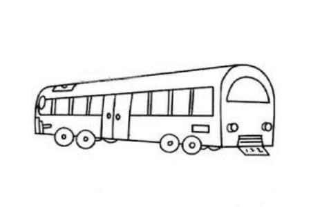 大型公共汽车简笔画