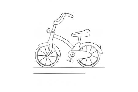 儿童自行车的画法