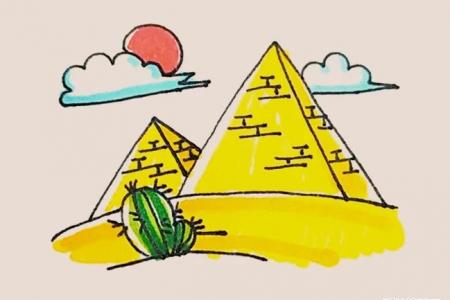 简笔画之金字塔