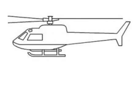 直升飞机侧面简笔画大全