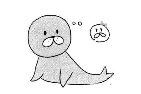 突出特征学画海豹