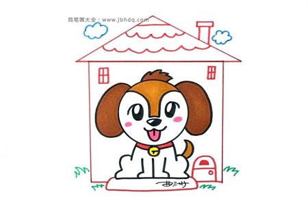 狗年画可爱的小狗