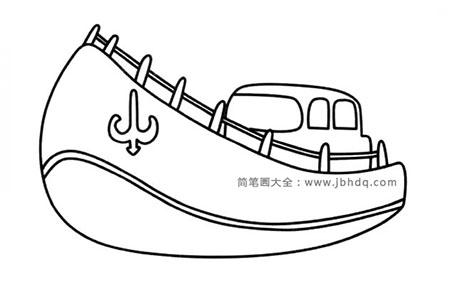 Q版轮船简笔画图片