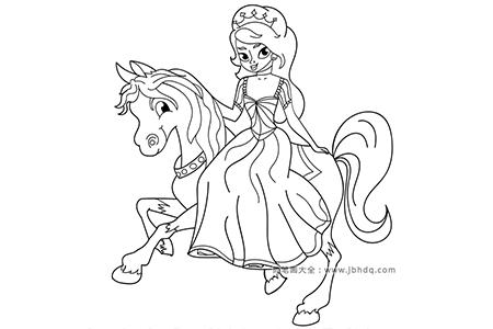 骑马的公主