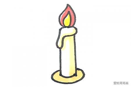 学画简单的蜡烛