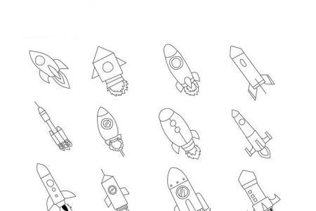火箭简笔画大全