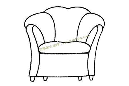 欧式沙发简笔画图片