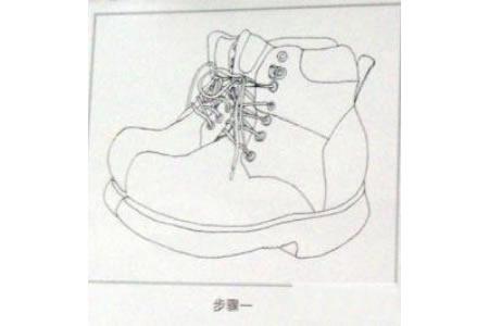 鞋子简笔画