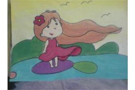三八妇女节儿童画-妈妈的节日