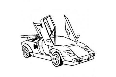 兰博基尼超级跑车简笔画图片
