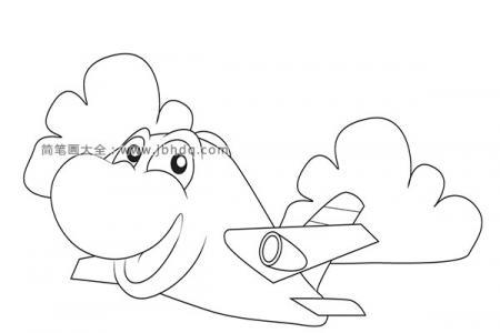 可爱的卡通飞机简笔画图片