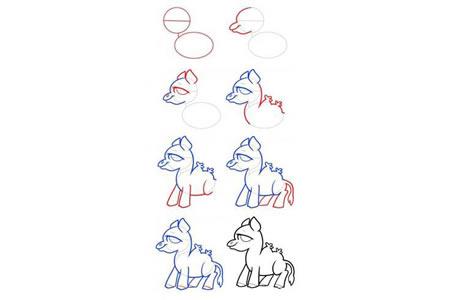 简笔画教程 骆驼简笔画步骤图