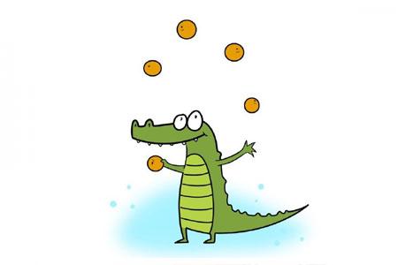 玩杂耍的小鳄鱼
