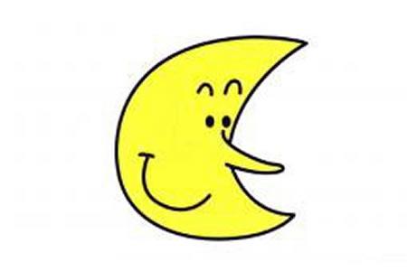 简笔画图片月亮