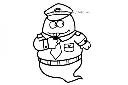 海豹警察简笔画图片