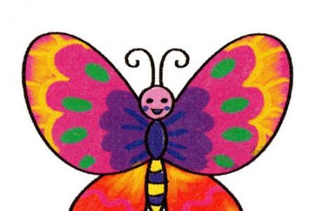 一步一步学画花蝴蝶