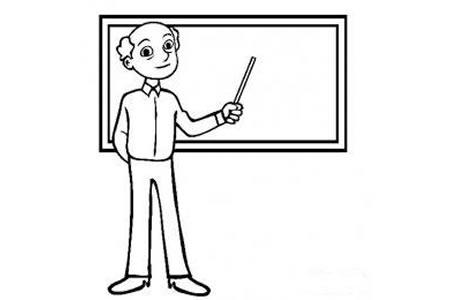 老师简笔画 慈祥的老师简笔画图片