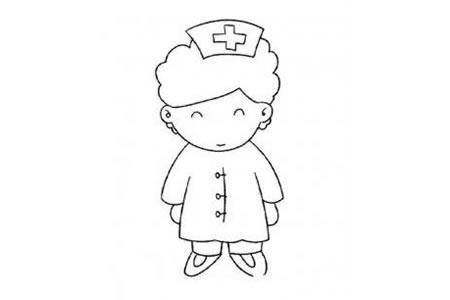 护士阿姨简笔画